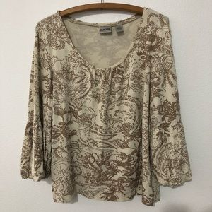 Chico's Bell Sleeve Blouse Plus Size 16